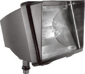 RAB Lighting Future Commercial Flood Light by RAB Lighting. Save 56 Off!. $60.51. Finish:Architectural Bronze, Photocell:Without Photocell, Light Bulb:(1)150w ED17 Med HPS High Pressure Sodium Flood Light  This HID flood light is compact, tough, and has good looking cast aluminum housing with hinged framed glass lens. It comes with an Integra Hood glare shield and stainless steel clip. A guard is also available for purchase.   Housing - Precision die cast aluminum, ' NPS threade...