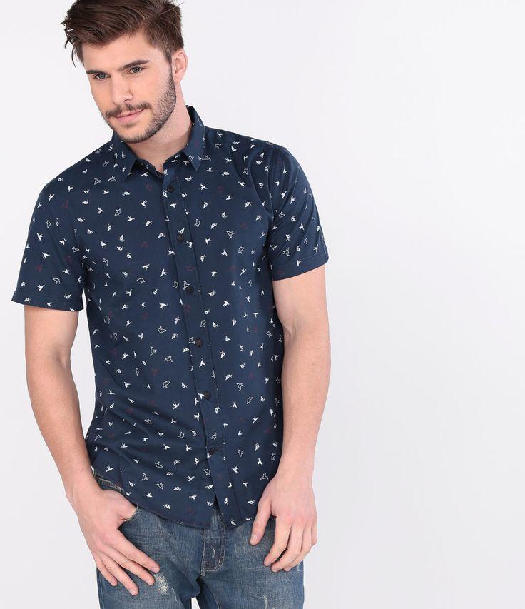Camisa masculina  Manga curta  Estampada  Marca: Blue Steel  Tecido: tricoline  Composição: 100% algodão   Modelo veste tamanho: M         COLEÇÃO VERÃO 2016         Veja mais opções de    camisas masculinas.