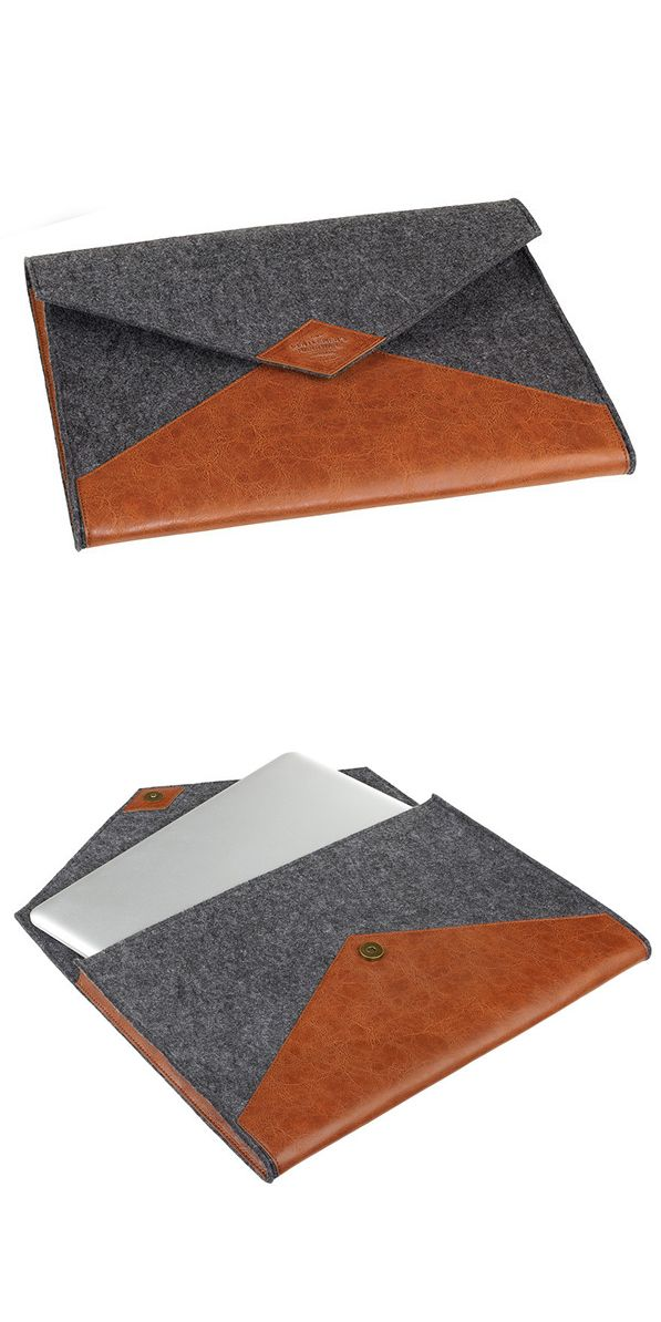 Wool + Leather laptop sleeve