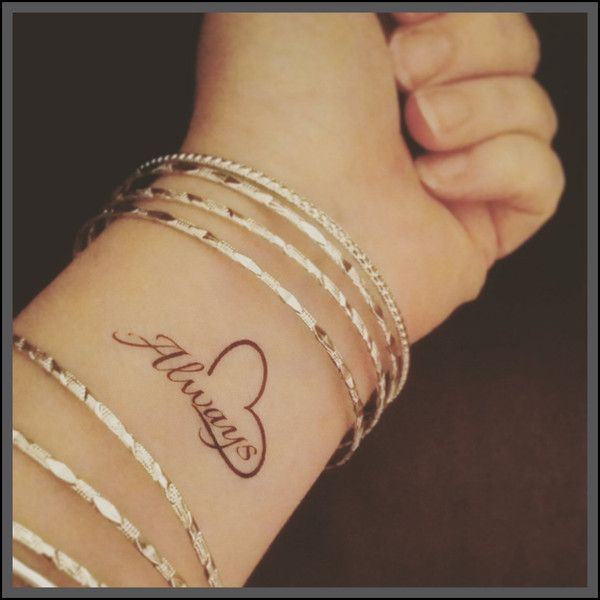 always tattoo – Etsy ($4.03) ❤ liked on Polyvore featuring accessories, body art and tattoos