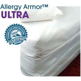 """Allergy Armor TM Ultra Allergy Relief Mattress Cover - Full (9"""") by Allergy Armor. $104.99. Ultra Protection against Dust Mites, Pet Dander, Mold & Other Allergens. Durable & Long-Lasting Allergy Relief with a Lifetime Warranty. 2.8 micron Average Pore Size, Best in Industry. Smooth, Soft & Luxurious Microfiber. Breathable Membrane-Free Fabric. Allergy ArmorTM Ultra mattress and pillow encasings have the smallest pore size in the industry at 2.8 microns. The fine 100% p..."""