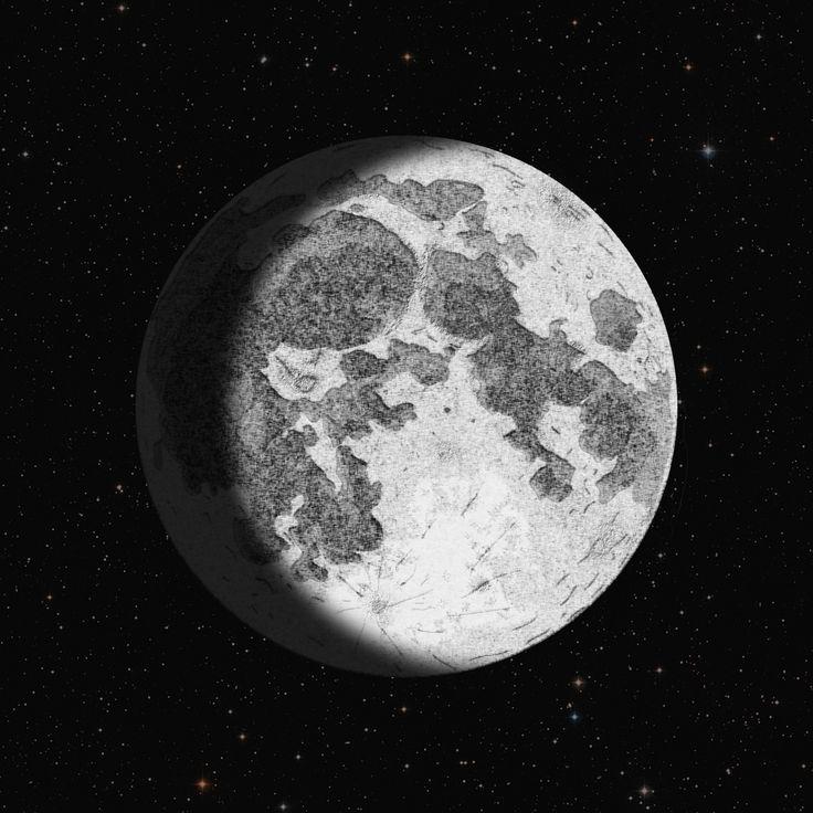Moon   Luna - Disegno digitale. www.cs4rt.com #foto #photo #fotografia #photography #moon #luna #spazio #space #disegno #disegnodigitale #graficadigitale