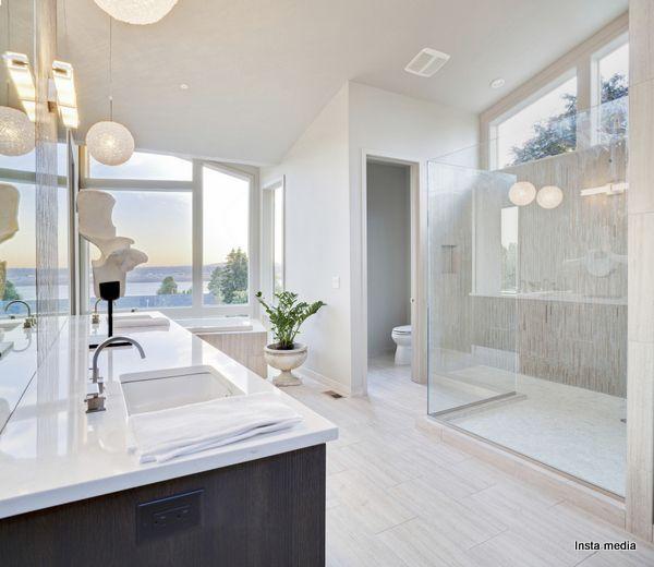 Contemporary Bathroom With Enclosed Toilet Bathroom Design Luxury Bathroom Remodel Cost Bathroom Interior