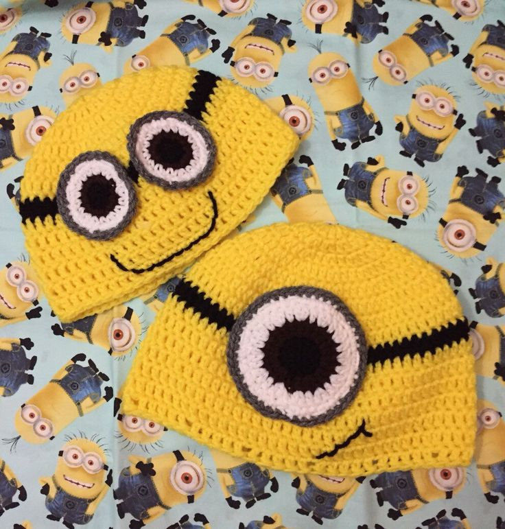 A personal favorite from my Etsy shop https://www.etsy.com/listing/240735994/crochet-minion-hat