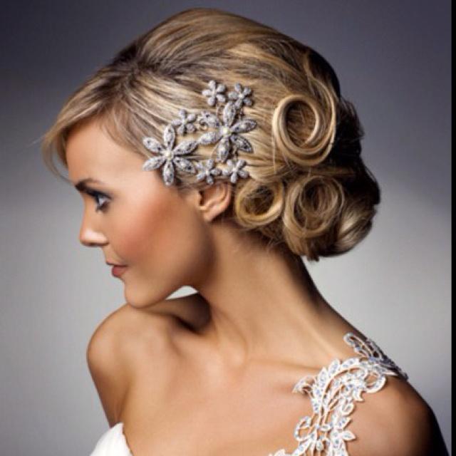 Hair clip, bridal hair