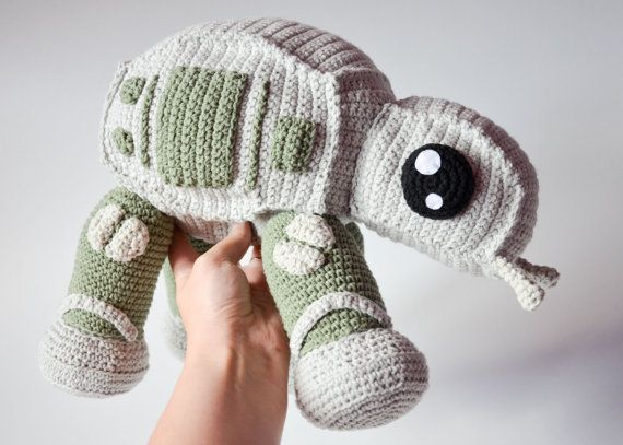 **Please note, this listing is for the PATTERN only, not the finished toy!**  AT-AT walker or more professionally All Terrain Armored Transport :) from star wars franchise.  Crochet walker, when finished, is 26 cm tall (10.2 inches), 28 cm long (11 inches). He is quite large and therefore we will have a lot of parts to make, please be patient and dont give up because the end result is totally worth it... oh (I almost forgot) May the force be with you!!  This pattern is for the medium…