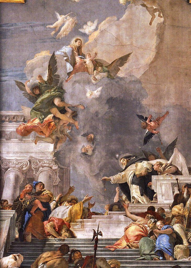 Giovanni Battista Tiepolo - San Domenico rivela il Rosario della Vergine - 1736