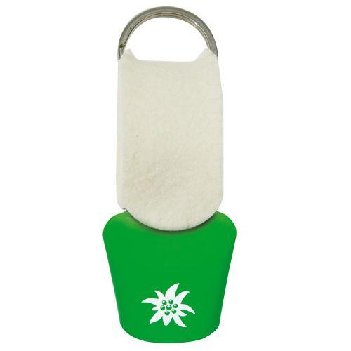 Grüne Edelweiss Glocke Schlüsselanhänger #glocke #schelle #dekoglocke #schlüsselanhänger