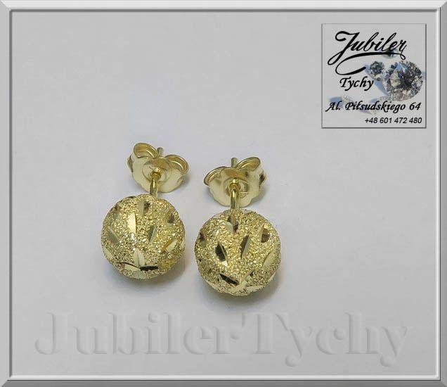 #Złote #Kolczyki #grawerowane #kule #kulki na #wkrętki #sztyft #złoto #Au585 #Jubiler #Tychy #Gold #Jeweller #Tyski #Złotnik #jubilertychy #złota #biżuteria #wyroby #złote #Pracownia #Złotnicza w #Tychach #Promocje : ➡ jubilertychy.pl/promocje 💎