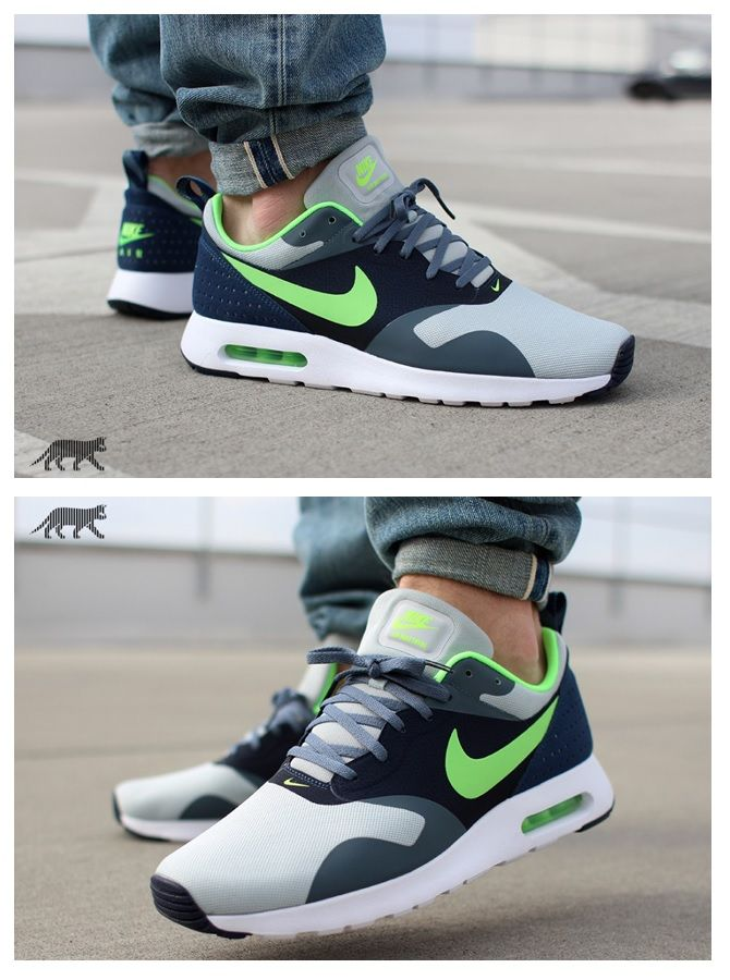 Nike Air Max Tavas: Wolf Grey/Lime