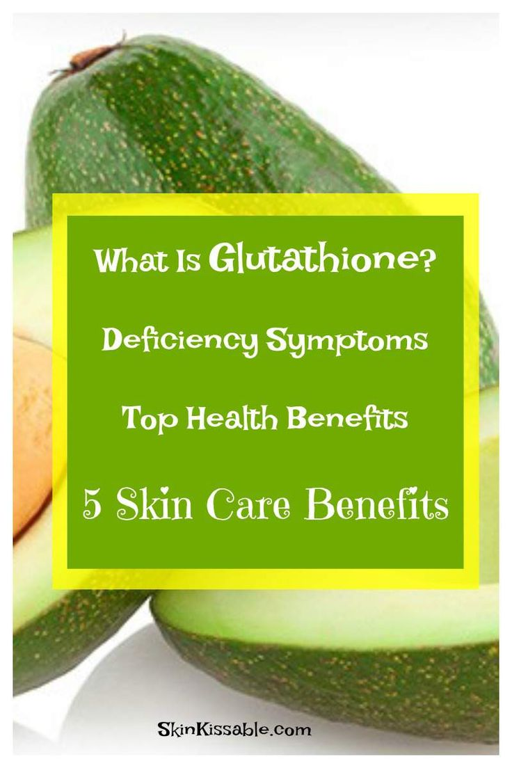 Glutathione skin care and health benefits. Products and food with this antioxidant to boost glutathione levels.