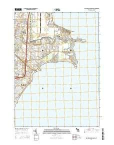 ~ Mount Clemens East MI topo map, 1:24000 scale, 7.5 X 7.5 Minute, Historical, 2014