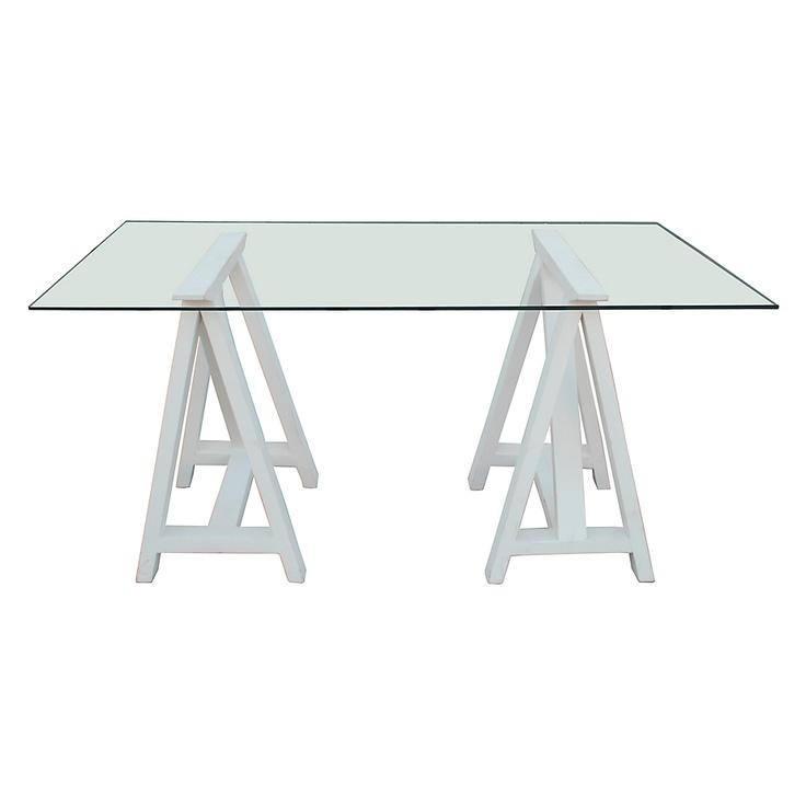 Mesa comedor new caballete blanco - Caballetes para mesas ...