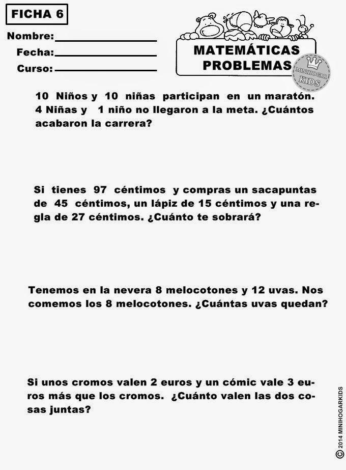 8 best matemáticas images on Pinterest   Fichas de matematicas ...