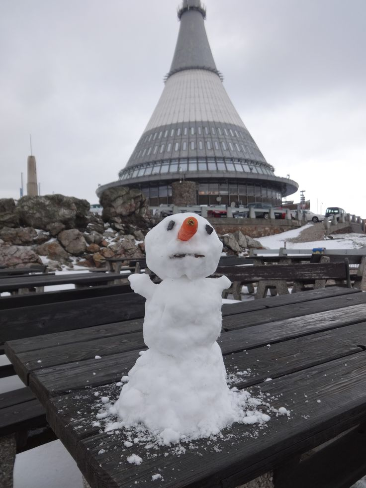 The last snowman of this spring ... I hope :-).