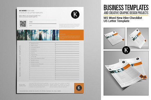 Ms Word New Hire Checklist Usl Letter Templates Ms Word Templates
