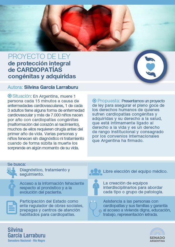 García Larraburu impulsa una ley de cardiopatías congénitas y adquiridas
