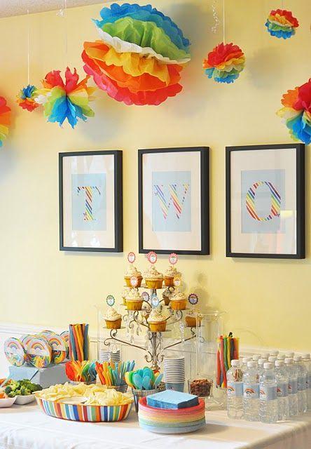 Rainbow birthday party: Rainbow Birthday Parties, Party'S, Birthdays, Rainbows, Rainbow Party, Rainbow Parties, Party Ideas, Birthday Ideas, Birthday Party
