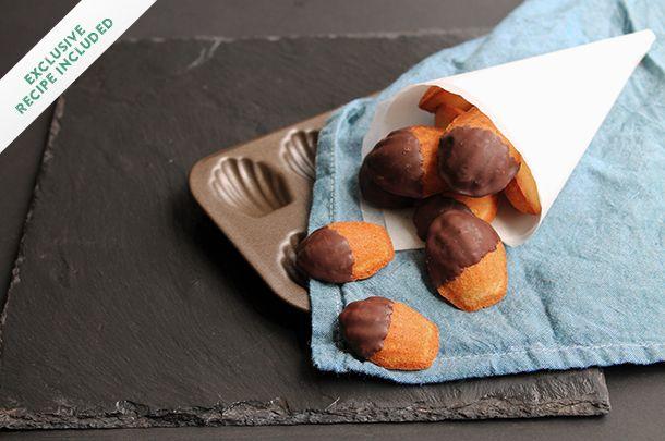 Rich Christmas Cake Recipe Jamie Oliver: France: Madeleines With Honey, Lavender & Dark Chocolate
