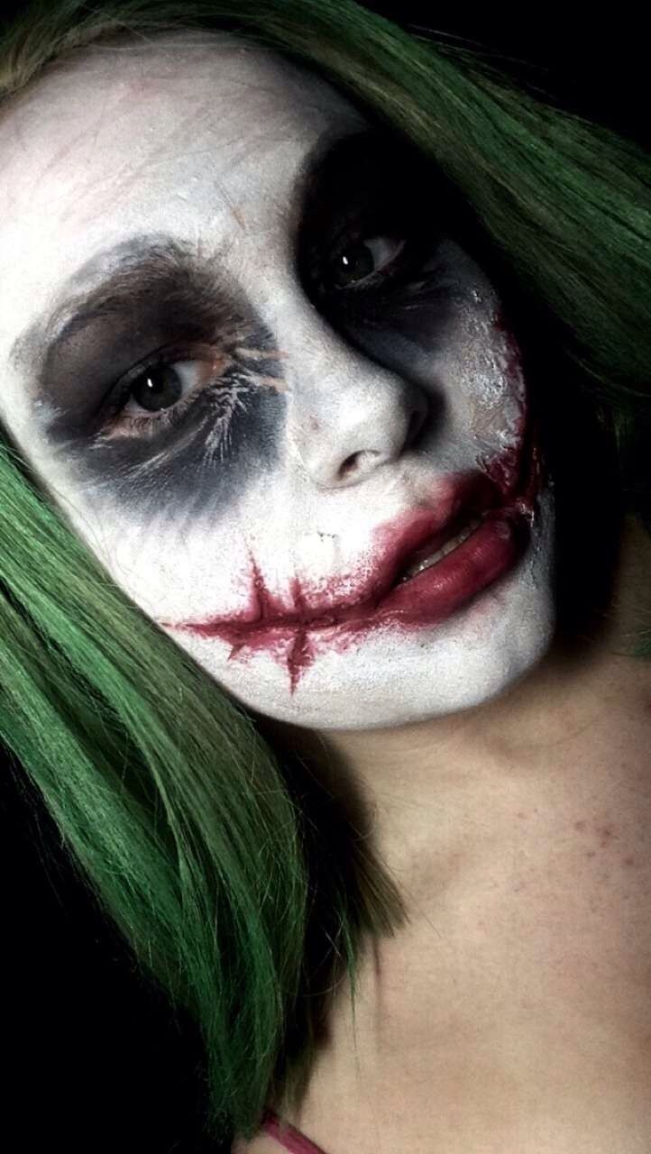 The dark knight Joker makeup for Halloween! Also using special effects makeup and facpaint