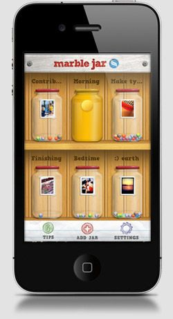 Top 50 iPhone Apps for Moms     Marble Jar may be a winner