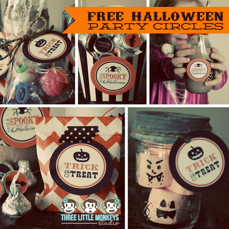 Free Halloween Printables  Cupcake Monday Free halloween - halloween decoration printouts