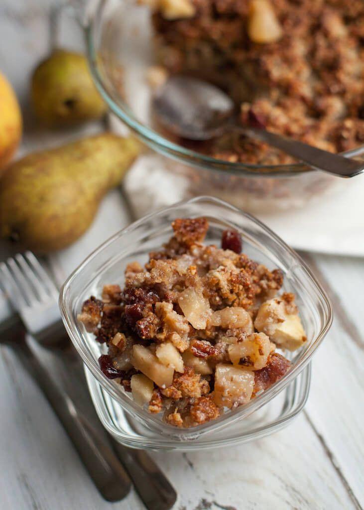 Een heerlijke peren crumble, kan zelfs als ontbijt:-)