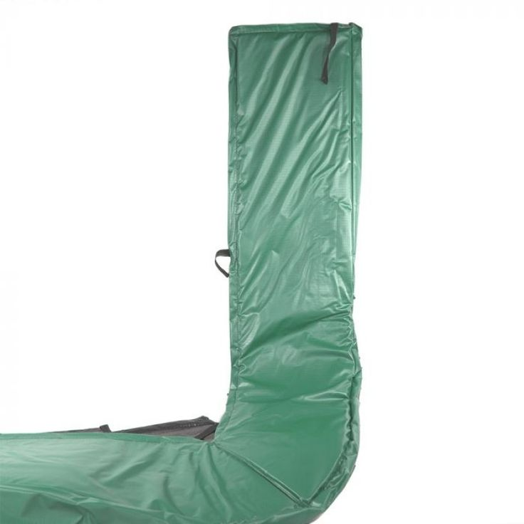 8ft x 14ft trampoline pad 6 slots green trampoline pad