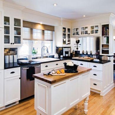 Cuisine chic et classique en noir et blanc - Cuisine - Avant après - Décoration et rénovation - Pratico Pratique