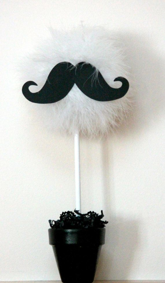 Mustache centerpiece and party decoration by TheShowerPlanner, $19.99