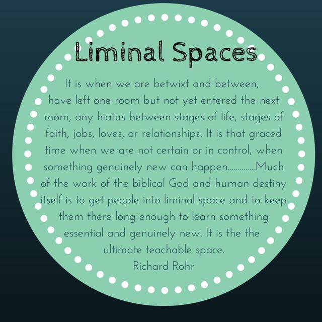 The Musings Of Jo: Liminal Spaces- That In-between Place