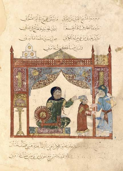 al makamat 1237 baghdad. probably spinning cotton