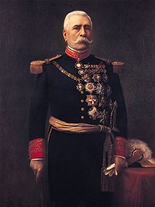 Jose de la Cruz Porfirio Díaz Mori, President of Mexico 1876-1911. Fought against the french army, also against Juarez and Lerdo de Tejada.