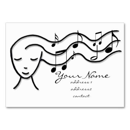 music profile card business card template. This is a fully customizable business card and available on several paper types for your needs. You can upload your own image or use the image as is. Just click this template to get started!