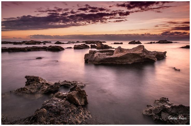 Sunset full of rocks