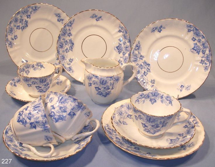 China Tea Sets | victorian blue white tea set pretty victorian tea set in blue and ...