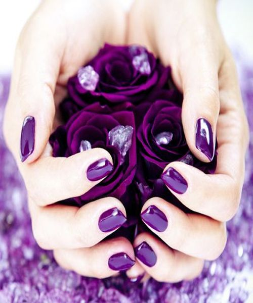 Bright Purple Nail Color for Fall