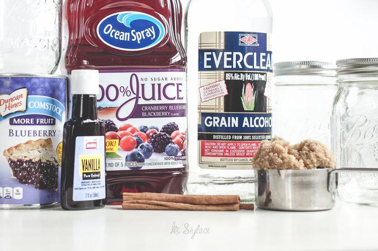 Blueberry pie moonshine recipe. Al a mode style.