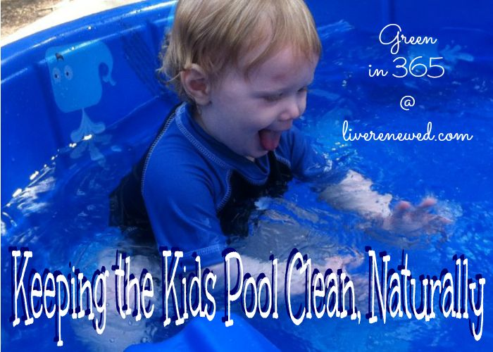Cleaning the Kids Pool, Naturally - add essential oils (Tea Tree, Lavender, Oregano, Geranium, or Lemon) to keep bacteria out