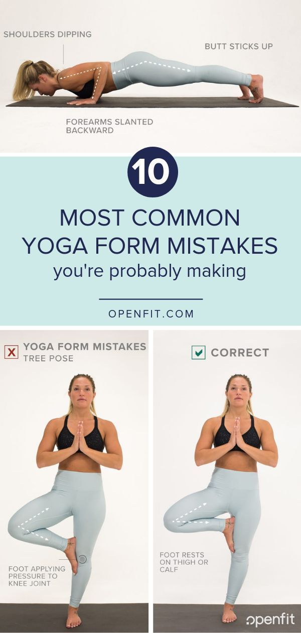 10 Most Common Yoga Form Mistakes Yoga For Beginners Types Of Yoga Yoga At Home