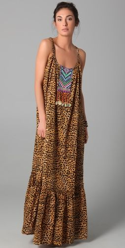 Embroidered Cheetah dress by Mara Hoffman. LOVE her whole collection.