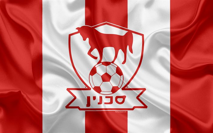 Download wallpapers Bnei Sakhnin FC, 4k, Israeli football club, emblem, logo, Ligat haAl, football, Israel Football Championship, Sahnin, Israel, silk