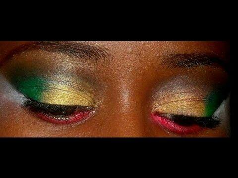 Guyana Flag Makeup