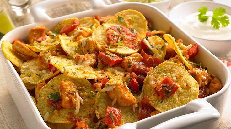 Nachos med kylling, lime og koriander - Oppskrifter - Old El Paso No