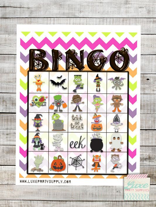 halloween bingo printable pdf 20 bingo cards halloween party games kids party preschool bingo game instant download halloween bingo printable pdf - Preschool Halloween Bingo