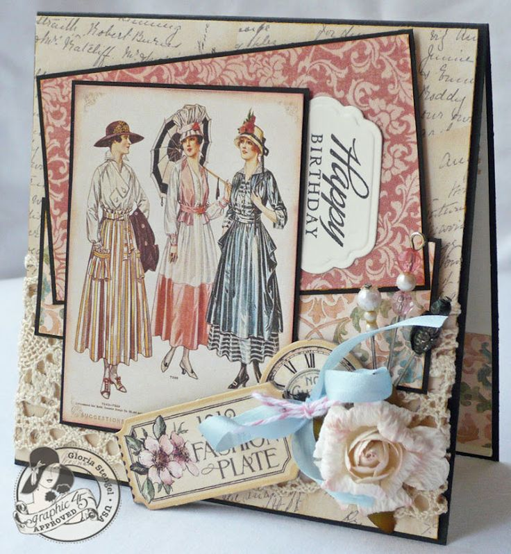 Ladies Diary Card by Gloria Stengel;  this is one of my fav collections, this is so pretty....