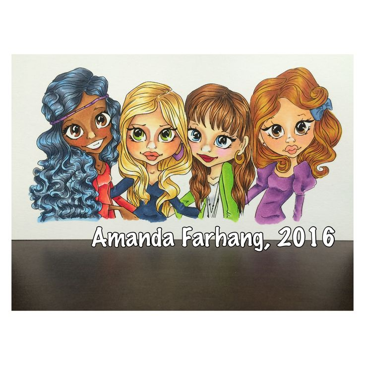 Colored by Amanda Farhang. This is a digital stamp from Saturated Canary, colored with copic markers.