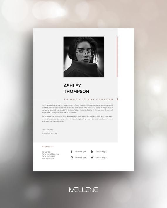 Resume Template 5 Page Cv Template Cover Letter Instant Download For Ms Word Ashley Lebenslauf Lebenslaufvorlage Vorlagen Lebenslauf