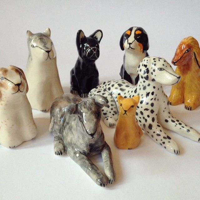 jen.collins - porcelain dogs - these are so whimsical and fun!