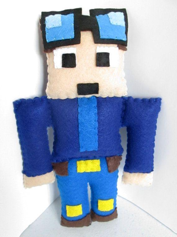 The Diamond Minecart Plush Dan TDM Plush Minecraft Plush